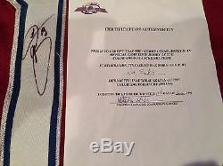 Hof Colorado Avalanche Joe Sakic 1998-99 Jeu Jersey Utilisé Et Signé Meigray Loa