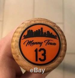 Hou La La! Manny Machado Jeu D'occasion Et Autographé 2016 Rawlings Bat Psa / Dna 9