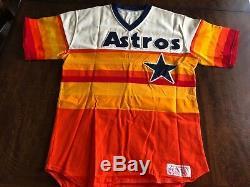 Houston Astros 1984 Jeu Utilisé Signé Nolan Ryan Rainbow Baseball Jersey Mears 10