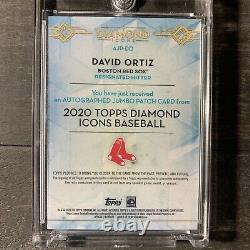 Icônes De Diamant 2020 David Ortiz 3 Color Patch Auto /10 Boston Red Sox Jeu Utilisé