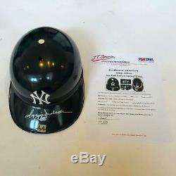 Incroyable 1977 Reggie Jackson Jeu Utilisé Signé New York Yankees Casque Psa Adn