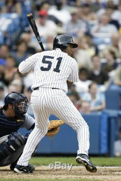 Incroyable 2003 Bernie Williams Signé Jeu Utilisé Baseball Bat Psa Adn Gu 10
