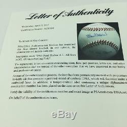 Incroyable Stan Musial Signé Première Guerre Mondiale 2 1945 All Star Game Utilisé Psa Baseball