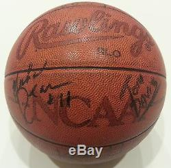 Iowa Hawkeyes 1987 Elite 8 Match Utilisé Et Autographié Basketball Ncaa De Spalding