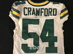 James Crawford Jeu Utilisé Worn Green Bay Packers Jersey Autographié Taille 44 Rare