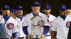Javier Baez Signé Chicago Cubs Jeu Utilisé Gold Jersey Banner Raising Opening Day