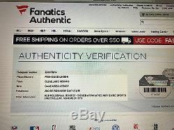 Jeu 2016 Utilisé Francisco Lindor Jersey Jackie Robinson Signé Inscrit 1/1