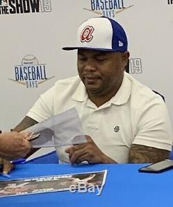 Jeu Autographié Par Andruw Jones Utilisé 2004 Base Nlds Atlanta Braves Mlb Proof