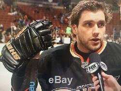 Jeu D'occasion Portés Signe Gants Sherwood NHL Canards Bobby Ryan Anaheim Photo Apparié