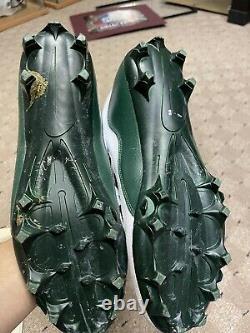 Jeu De Davante Adams Used Pe Air Jordan Signed & Inscribed Cleats Mamba Mentalité