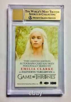 Jeu De Trônes Saison 2 Emilia Clarke Daenerys Targaryen Bgs Parfect Autograph
