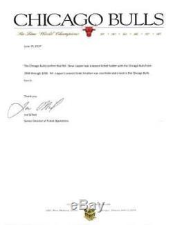 Jeu Signé Autographié Par Michael Jordan: Maillot Usé 1988 Mears 10 Beckett