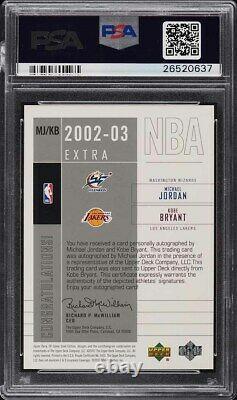 Jeu Sp 2002 Used Extra Significance Kobe Bryant Michael Jordan Auto /25 Psa 10