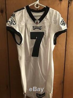 Jeu Utilisé / Porté Eagles De Philadelphie Signé Mike Vick # 7 Reebok Jersey NFL Coa