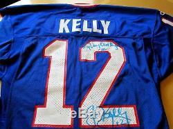 Jim Kelly 1993 Jeux De Lettres Usés / Portés Signés Lettre D'authenticité De Jersey-lelands