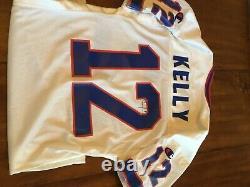Jim Kelly 1995 Jeu Utilisé / Worn Signé Jersey / Certificat D'authenticité