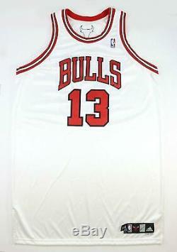 Joakim Noah 2007-08 Rookie Chicago Bulls Jeu Utilisé Worn Signé Accueil Jersey Jsa