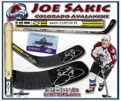 Joe Sakic Signé Jeu Bâtonnet Avalanche Du Colorado Höfer Withcoa