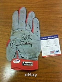Joey Votto 2012 Jeu Utilisé Autographié Frappeurs Gants Cincinnati Reds Psa / Adn Coa