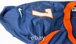John Elway Jeu Utilisé Jersey Auto Signé Super Bowl Année 4 Coas Psa Grey Flan