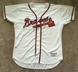 John Smoltz Jeu Signé Utilisé 2004 Atlanta Braves 18 Sauver Jersey Autograph Coa