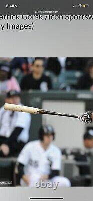 Jose Abreu Chicago White Sox Jeu Bat D'occasion 2015 Signé Photo Matched Jsa