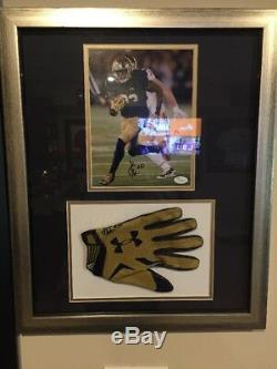 Josh Adams Jeu Signé Occasion Notre Dame Football Glove Photo Encadrée Matte Jsa