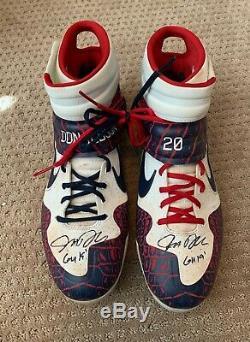 Josh Donaldson 2019 Jeu Utilisé Crampons Paire Autographes Braves Signe Portés