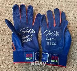 Josh Donaldson Jeu Gants Batting Utilisé Paire Autographe Blue Jays