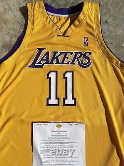 Karl Malone Los Angeles Lakers Signed Autograph Pro Cut Jeu Publié Nike Jersey