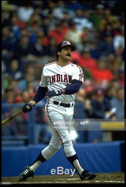 Keith Hernandez Signé Jeu Utilisé Final Season Indians De Cleveland Jersey 86 Mets