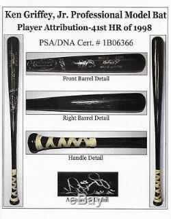 Ken Griffey Jr. 1998 Jeu Utilisé Autographié Home Run # 41 Mlb Bat Psa Gu 10 Jr Loa
