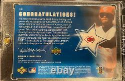 Ken Griffey Jr. 2001 Upper Deck Game Jersey Auto Sign On Card Mint Uda