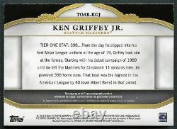 Ken Griffey Jr 2013 Topps Tier One Gold Jeu Utilisé Patch Autographe /99 Rare