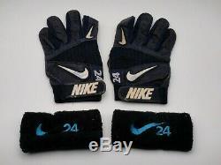 Ken Griffey Jr. Gants Jeu D'occasion Nike Frappeurs Beckett Signed Coa Autographié