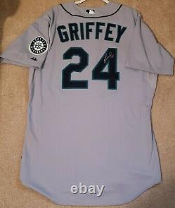 Ken Griffey Jr. Jeu D'usé Maillot Signé Auto Seattle Mariners 2010