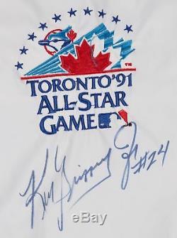 Ken Griffey Jr. Jeu Utilisé Et Signé 1991 All Star Game Pullover Jacket Beckett