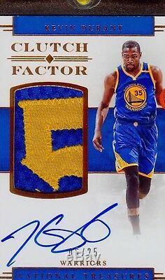 Kevin Durant / 25 Autographié D'or D'embrayage Facteur 5 Jeu Utilisé Jersey Auto Patch