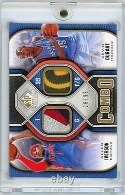 Kevin Durant Allen Iverson 2009-10 Sp Jeu Utilisé Patch /99 Kd Est Rookie Patch