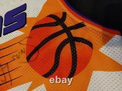 Kevin Johnson Kj Phoenix Suns Authentic Champion Game Jersey Taille 48 Autographié