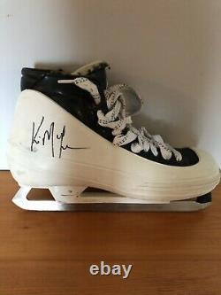 Kirk Mclean A Signé Un Jeu Dédicacé Utilisé Bauer Goalie Skates Vancouver Canucks