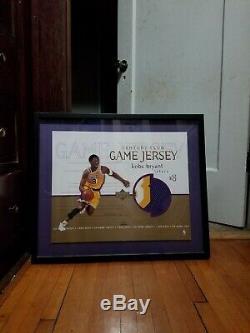 Kobe Bryant 1999-2000 Auto Jeu Signé Worn Jumbo Occasion Jersey Patch Uda 2/16 # D