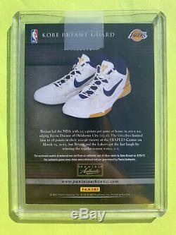 Kobe Bryant 2014 Panini Authentique Jumbo Shoe Patch Jeu Signature Date Jeu D'occasion