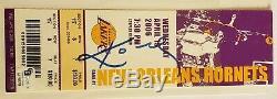 Kobe Bryant Autographié Lakers Jeu Billets D'occasion 2006 Vs Hornets 19/04/06