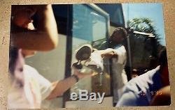 Kobe Bryant Autographié Signé Jeu Utilise Adidas Psa / Adn Photo + 1999 Daté