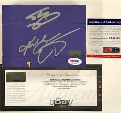 Kobe Bryant Et Shaquille O'neal Ont Signé Lakers Jeu Floor Psa + Panini Coa