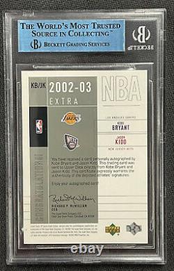 Kobe Bryant Jason Kidd 2002-2003 Sp Jeu Used Extra Significance 18/25 Auto Bgs