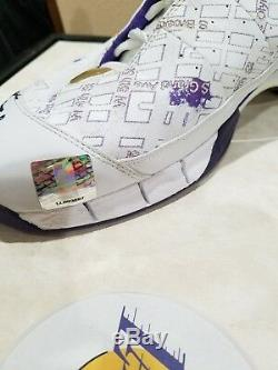 Kobe Bryant Lakers Jeu Occasion Échantillon Promo Chaussure Pe Autographiée Signée 2005