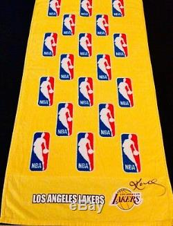 Kobe Bryant Los Angeles Lakers 2008 Nba Playoffs Jeu Anciens Et D'occasion Towel Mvp