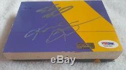 Kobe Bryant Shaquille Shaq O'neal Jeu Signé Usagé Plancher Lakers Panini Psa Coa